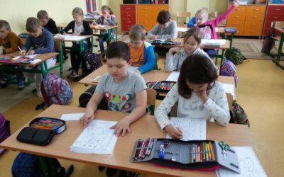 Zajęcia z pedagogami szkolnymi w klasie 1 b