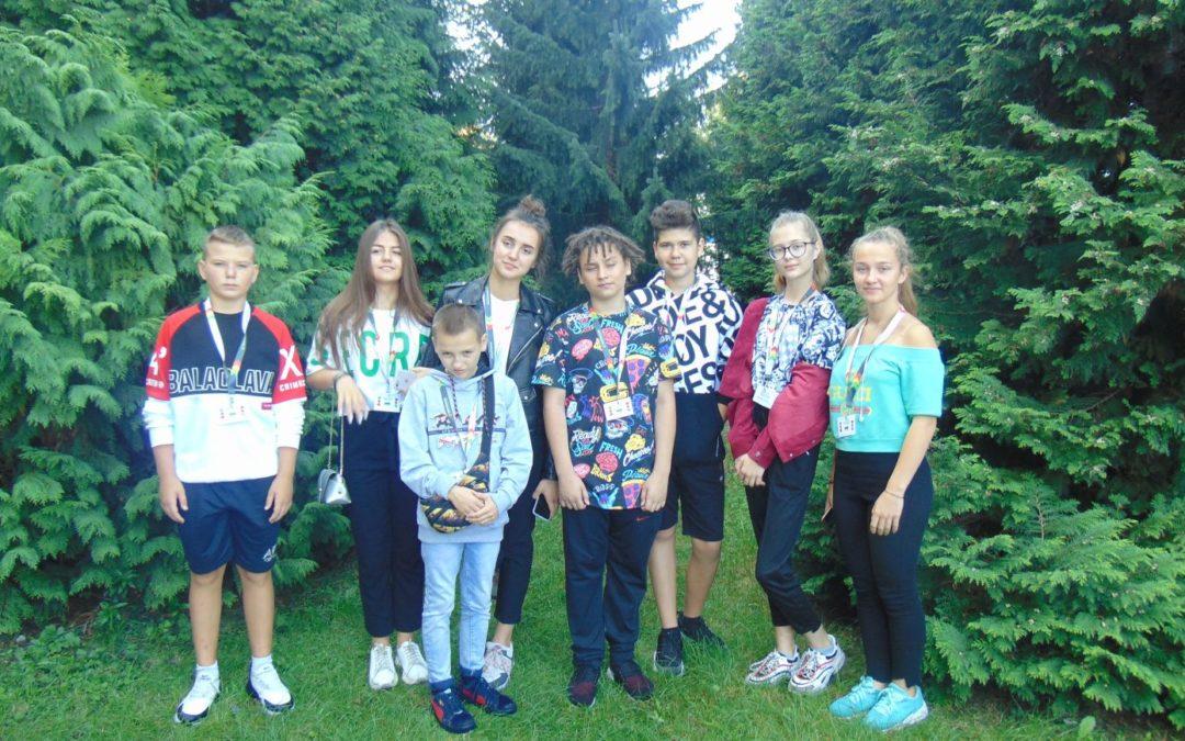 Spotkanie z młodzieżą z zaprzyjaźnionego ze Skierniewicami miasta Łubnie
