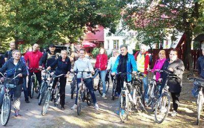 Wycieczka rowerowa dla rodziców uczniów klasy 4c