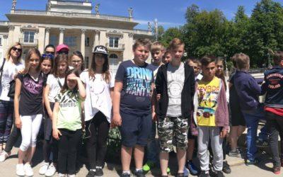 Wycieczka klasy V B do Piaseczna i Warszawy