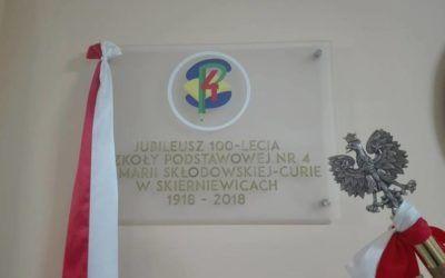 Uroczystość obchodów 100- lecia Szkoły Podstawowej nr 4