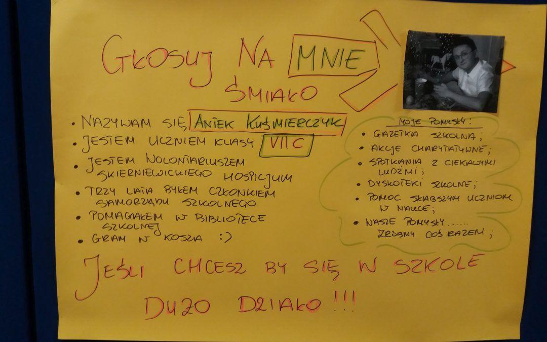 Kampania wyborcza do Zarządu Samorządu Uczniowskiego